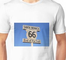 Route 66; End of the trail Unisex T-Shirt