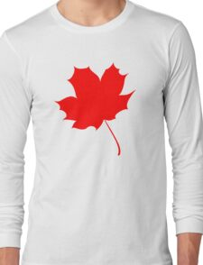 Maple red leaf Long Sleeve T-Shirt