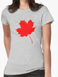 Maple red leaf Womens Fitted T-Shirt