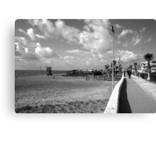 Ostia seafront: landscape with sea and beach Canvas Print