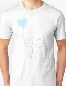 Elephant Love (Blue) Unisex T-Shirt