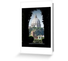 Aventine keyhole, Rome Greeting Card