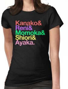 Momoclo goes Helvetica Womens Fitted T-Shirt