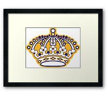 Kings Hockey Team Crown Framed Print