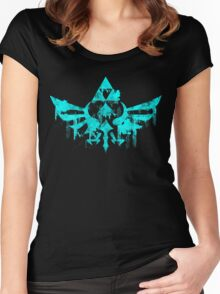 Skyward Symbol - Aqua Women's Fitted Scoop T-Shirt