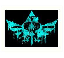 Skyward Symbol - Aqua Art Print