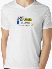Doctor Who and bananas Mens V-Neck T-Shirt
