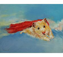 Hamster Superhero Photographic Print