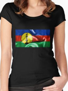 New Caledonia Flag Women's Fitted Scoop T-Shirt
