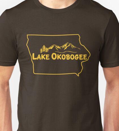 Lake Okobogee, Iowa Unisex T-Shirt