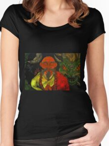 """Dragon Style"" Women's Fitted Scoop T-Shirt"