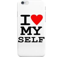 Parody, satire, humour, I heart MY self iPhone Case/Skin