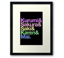 Takoniji goes Helvetica Framed Print