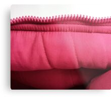 Pink zipper Metal Print