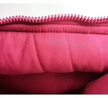 Pink zipper Photographic Print