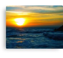 Sunset over Pacific Ocean Canvas Print