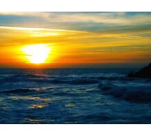 Sunset over Pacific Ocean Photographic Print