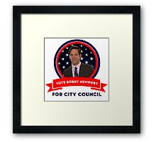 Vote Bobby Newport - Parks And Recreation Framed Print
