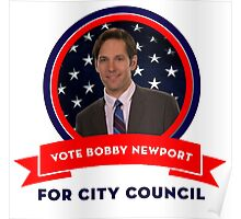 Vote Bobby Newport - Parks And Recreation Poster