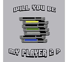 Will you be my PLAYER 2 ? Photographic Print