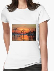 Sunset on the Bayou Womens Fitted T-Shirt