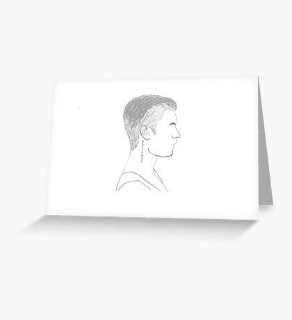 Justin Bieber Profile Greeting Card