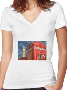 Quintessential London Women's Fitted V-Neck T-Shirt