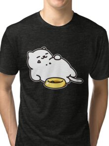 Neko atsume - Tubbs cat Tri-blend T-Shirt