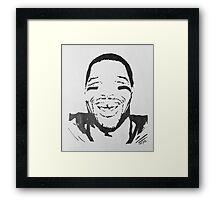 Michael Strahan Portrait Framed Print