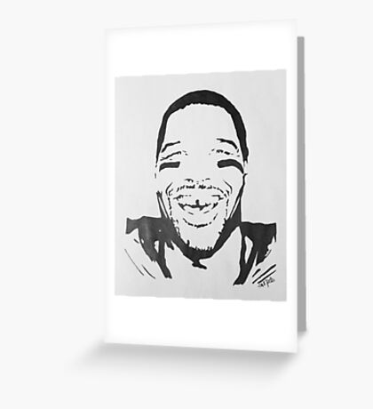 Michael Strahan Portrait Greeting Card