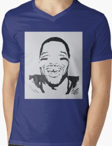 Michael Strahan Portrait Mens V-Neck T-Shirt