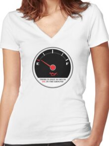 Only So Much Oil In The Ground (Gauge) Women's Fitted V-Neck T-Shirt