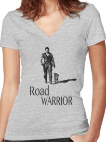 Road Warrior Women's Fitted V-Neck T-Shirt