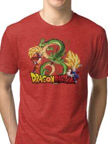 Dream Match Versus - Son Goku VS Vegeta Super Saiyan 3 Tri-blend T-Shirt