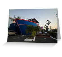Ship Out Of Water, Queensland, Australia 2008 Greeting Card
