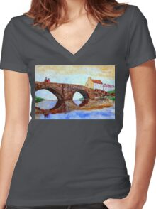 THE BRIDGE - england Women's Fitted V-Neck T-Shirt