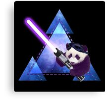 Galactic Panda With Lightsaber Canvas Print