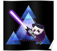 Galactic Panda With Lightsaber Poster