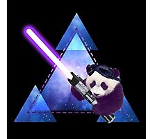 Galactic Panda With Lightsaber Photographic Print