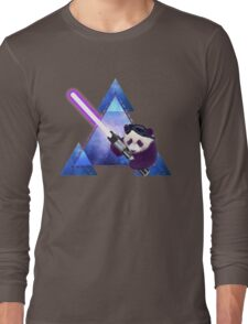 Galactic Panda With Lightsaber Long Sleeve T-Shirt