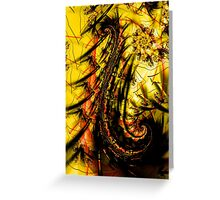 Yellow Symbol Art Design Greeting Card