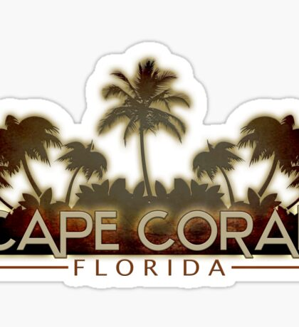 Cape Coral Florida palm tree design Sticker