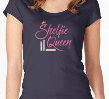 Booklover Shelfie Queen Women's Fitted Scoop T-Shirt