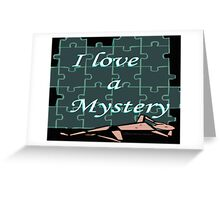 I Love a Mystery Puzzle Greeting Card