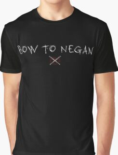 The Walking Dead - Bow To Negan - Scratch Graphic T-Shirt