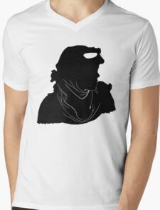 "Rey ""The Scavenger"" Silhoutte (Black) Mens V-Neck T-Shirt"