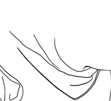 "Rey ""The Scavenger"" Silhoutte (White) Sticker"