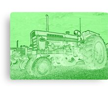 Tractor as art Canvas Print