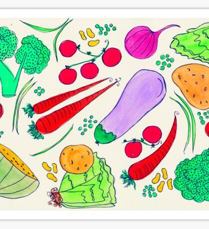 Vegetables!  Sticker