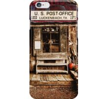 Luckenbach Post Office iPhone Case/Skin